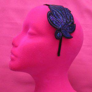 Accessories - new purple sequin feather headband fascinator
